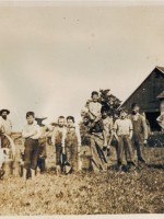 Threshing on Davis farm c